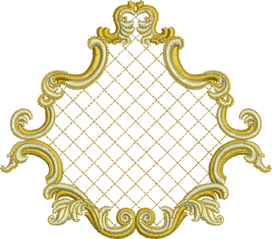 Gilt Frame Embroidery Motif - 20 - Golden Classic - by Sue Box