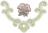 Oriel and Rose Embroidery Motif - 20 -  A Romantic Era - by Sue Box