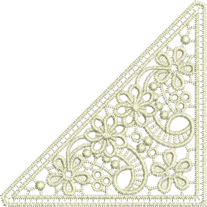 Lace Taj Embroidery Motif Insert - 20 - Classic Lace - by Sue Box