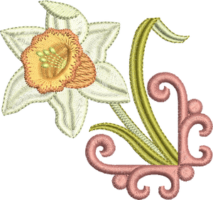 21 -  Embroidery Favourites by Sue Box - Daffodil Motif 1