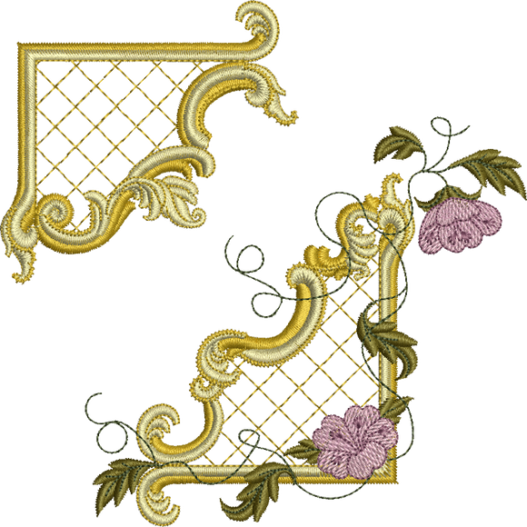 21 - Gilt Frame 1 and Flowers Set