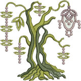 Tree Trunk 3-Bole Embroidery Motif - 22 -  Everlasting Embroidery - by Sue Box