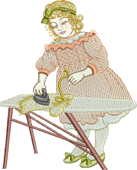 Dressmaker Ella Embroidery Motif - 22 - Creative Little Homemakers by Sue Box