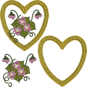 23 - Antique Heart Design Set