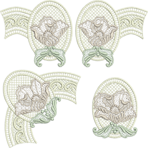 23 - Antique Lace Borders Set