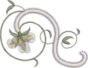 Azalea Flower Embroidery Motif - 23 -  Embroidery Inspirations - by Sue Box