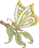 Fairy Butterfly Embroidery Motif - 23 - Enchanted Fairy Treasures - by Sue Box