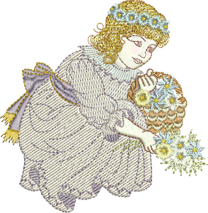Flower Girl Flo Embroidery Motif - 23 - Creative Little Homemakers by Sue Box