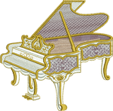 Grand Piano Embroidery Motif - 23 - Endearing Embroidery design by Sue Box