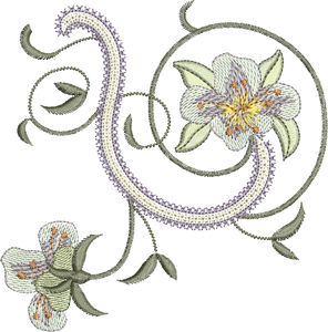 Azalea Flower 1 Embroidery Motif - 24 -  Embroidery Inspirations - by Sue Box