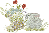 Bunny Rabbit Embroidery Motif - 24 - Creative Little Homemakers by Sue Box