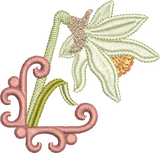 Daffodil Flower Embroidery Motif - 24 -  Embroidery Favourites by Sue Box