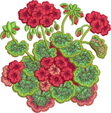 Geranium Flower Embroidery Motif - 24 - Traditional Homes and Gardens - by Sue Box