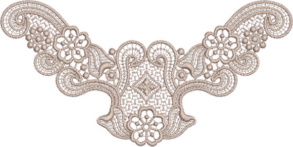 Lace - Old Lace Design FSL Embroidery Motif - 24 - Designer Lace - by Sue Box