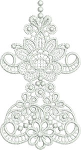 Lace Taj Border Embroidery Motif Corner - 24 - Classic Lace - by Sue Box