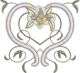 Azalea Flower Design Embroidery Motif - 25 -  Embroidery Inspirations - by Sue Box