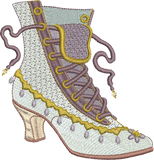 Boot Embroidery Motif - 25 - Endearing Embroidery design by Sue Box