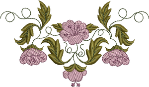 Flower Array Embroidery Motif - 25 - Golden Classic - by Sue Box