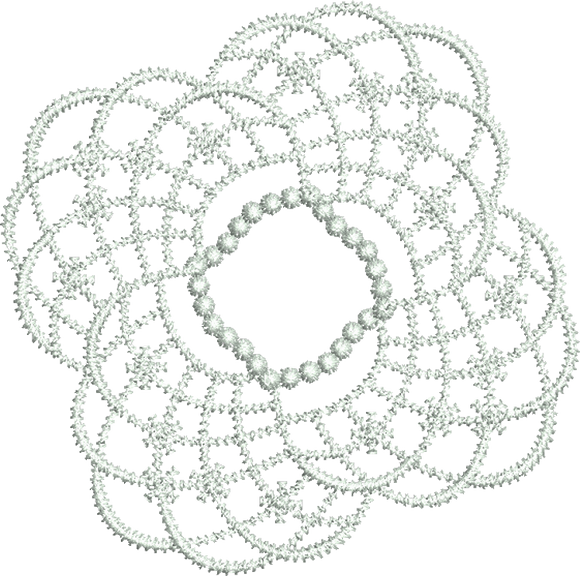 Lace Tamah Design Embroidery Motif - 25 - Just Lace - by Sue Box