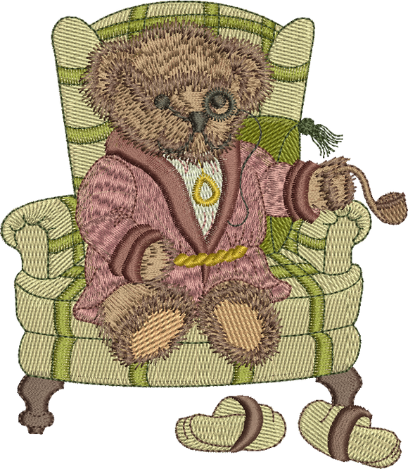 Teddy Bear Lord Oaks Embroidery Motif - 26 -  Timeless Teddy Bear Treasures - by Sue Box