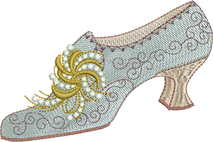 Shoe Embroidery Motif - 27 - Endearing Embroidery design by Sue Box