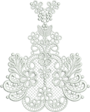 Lace Taj Border Centre Embroidery Motif - 27 - Classic Lace - by Sue Box