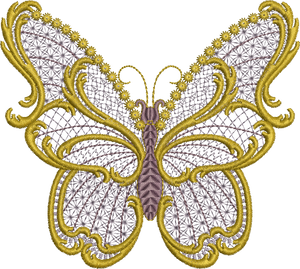 29 - Old Gold Butterfly