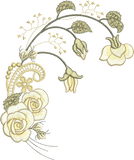 Rose Spray Flower Embroidery Motif - 29 -  Embroidery Inspirations - by Sue Box