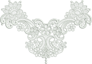Lace Taj Embroidery Motif - 29 - Classic Lace - by Sue Box