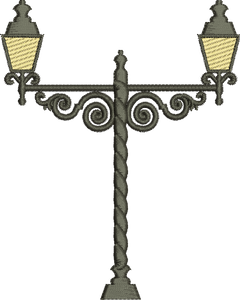 29 - Wrought Iron Lamp