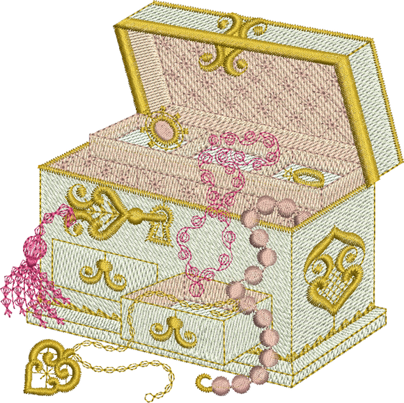Jewel Box Embroidery Motif - 30 -  A Romantic Era - by Sue Box