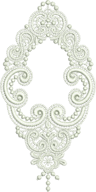 Lace - Krystal Embroidery Motif - 30 - Just Lace - by Sue Box