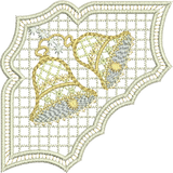Christmas Serviette Corner Embroidery Motif - 30 - Sparkling Christmas Collection by Sue Box