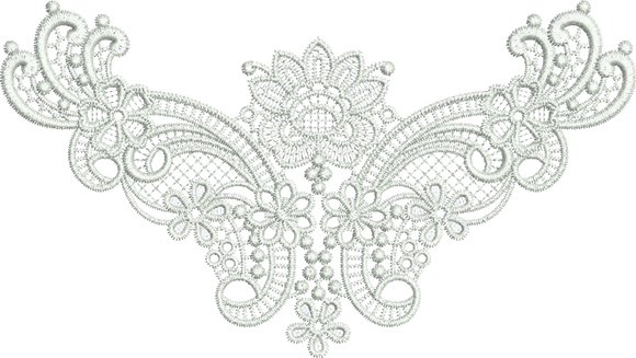 Lace Taj Design Embroidery Motif - 30 - Classic Lace - by Sue Box