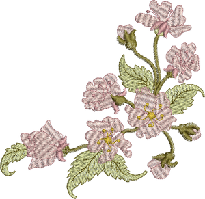 Fairy Flower Blossom Corner Embroidery Motif - 31 - Enchanted Fairy Treasures - by Sue Box