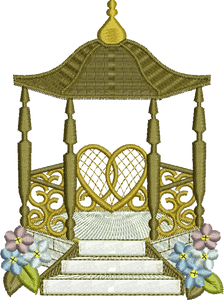 Gazebo Embroidery Motif - 31 -  Everlasting Embroidery - by Sue Box