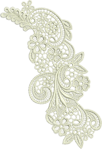 Lace - Peridot Embroidery Motif - 31 - Just Lace - by Sue Box