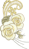 Rose Spray 2 Flower Embroidery Motif - 31 -  Embroidery Inspirations - by Sue Box