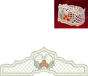 Christmas Serviette Ring Embroidery Motif - 31 - Sparkling Christmas Collection by Sue Box