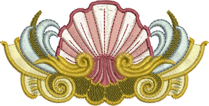 SeaShell 1 Embroidery Motif - 31 - Golden Classic - by Sue Box