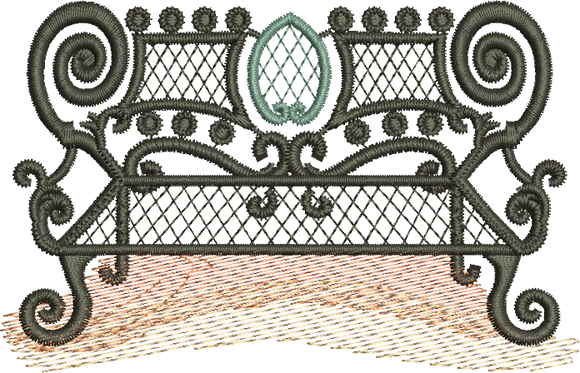 31 - Wrought Iron Seat