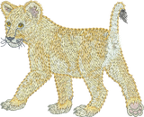 Lion Cub Play Embroidery design - 32 - Zoo Babies by Sue Box