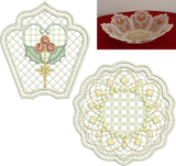 Christmas Embroidery Motif Bowl Set - 33 - Sparkling Christmas Collection by Sue Box