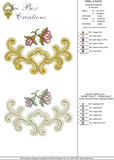 Oriel and Rose Buds Embroidery Motif - 18 -  A Romantic Era - by Sue Box