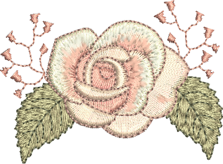 Rose Embroidery Motif - by Sue Box