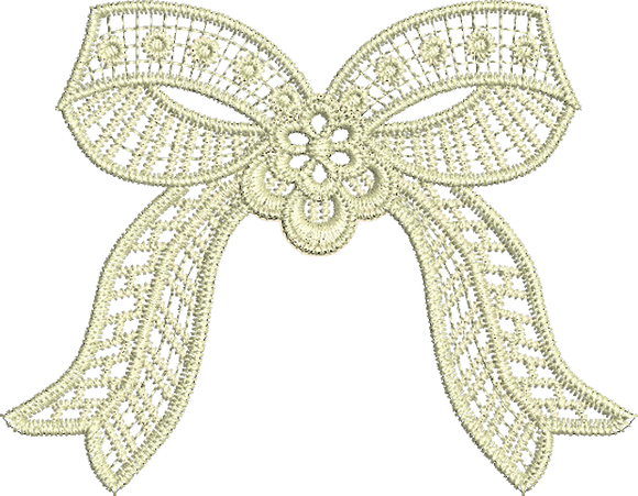 Lace - Adah Bow Lace Embroidery design by Sue Box
