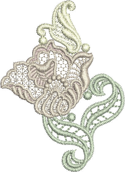 Lace - Antique Lace Embroidery Motif by Sue Box