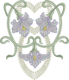 Art Nouveau Flower Machine Embroidery Motif - 08 - by Sue Box