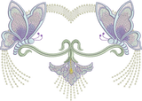 Art Nouveau Flower and Butterfly Machine Embroidery Motif - 10 - by Sue Box