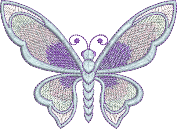 Art Nouveau Butterfly Machine Embroidery Motif - 12 - by Sue Box